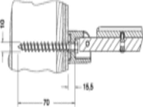 Keuco 34992000200 Befestigung-Set 6 Plan Care 2x Sechskant- Holzschraube 10 x 70 mm