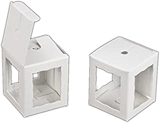 Pack of 25 Cake Pop Bakery Boxes with Window 1.75x1.75x2