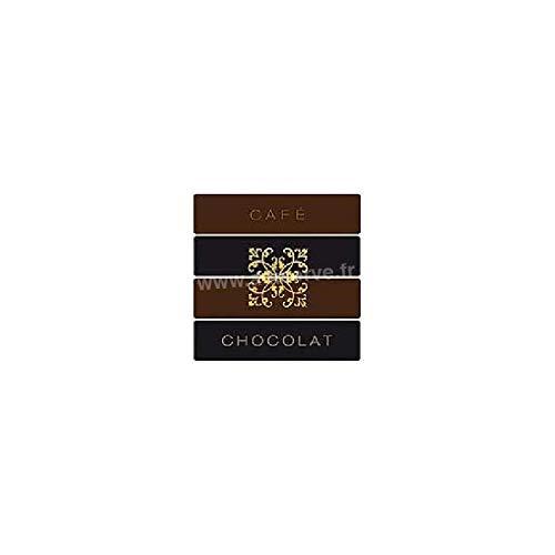 Serviette cocktail jetable intissé Café Chocolat 25 cm par 20