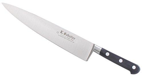 K SABATIER - Cuisine 23 Cm Gamme Vintage Au Carbone - Acier Carbone - Manche Noir - 100% Forge - Entièrement Fabrique en France