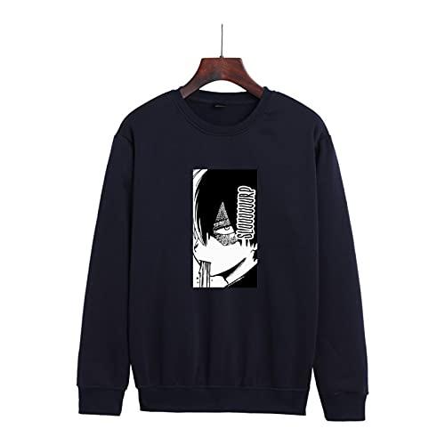 N\C My Hero Academia Sudadera con CapuchaOtoño / Invierno Anime Impreso Suéter de Cuello Redondo Estilo de Pareja para Hombres y Mujeres Sudadera con Capucha de Moda Fresca 3XL