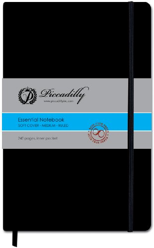 Piccadilly Essential Softcover Medium Ruled Notebook