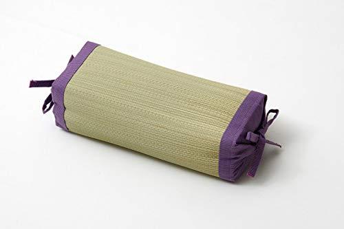 Ikehiko Almohada tradicional japonesa hecha de hierba Igusa Rush natural, altura ajustable, 30 x 15 cm, fabricada en Japón (morado)