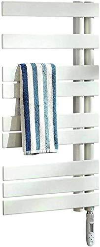 Toallero eléctrico Railleñas de toallas con calefacción Toalla Calentador, Toalla Termostática Rack Toalla Termostática Unilateral Fibra de carbono Toalla eléctrica Rack Toalla de baño Secadora Inteli