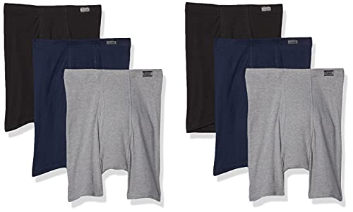 Hanes Men's Tagless ComfortSoft Waistband Boxer Briefs-Multiple Packs Available, 6 Pack-Assorted, Large