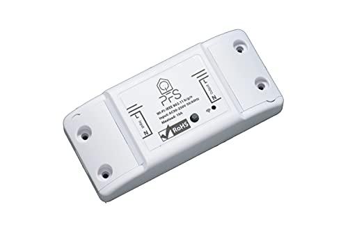 PFS Interruttore Wifi Interruttore Smart con Telefono App Android iOS Smart Switch Relè WiFi Accessori Compatibili Alexa Google Home【1 pz 90-250V MAX 2200 W Sezione FIlo MAX 1.5】