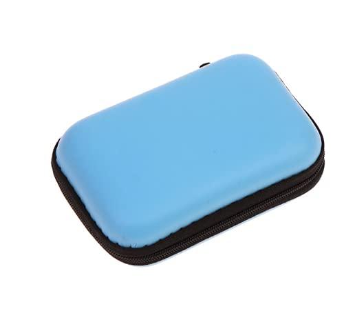 Mini Bag Portable Shockproof Storage Box Compact Waterproof Case for Go pro Hero 7 6 5 4 3 Xiaomi Yi 4K MIJIA Action Camera (Blue)