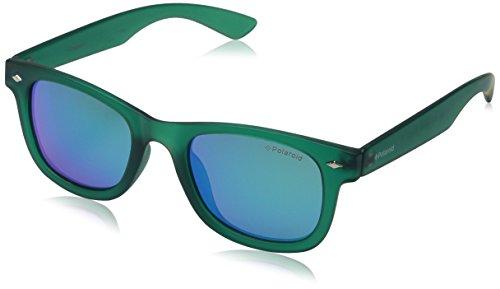 Polaroid PLD 8009/N K7 PVJ Gafas de sol, Verde (Transparent Dark Green/Green Sparkling Polarized), 45 Unisex Niños