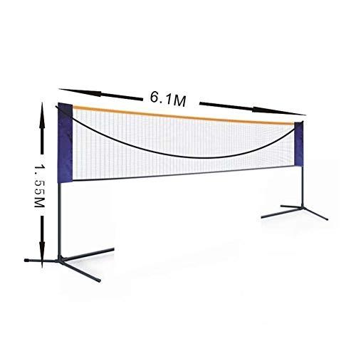 Dongbin Tragbare Standard-Badminton Net Set Für Tennis, Pickleball, Kinder Volleyball - Easy Setup Sport Net Mit Polen - Für Innen- Oder Außenplatz, Strand, Auffahrt