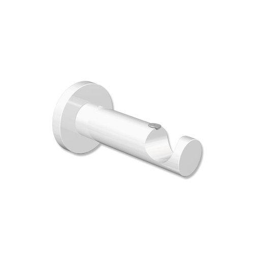 INTERDECO Gardinenstangen Träger/Wandhalter Weiß 7,5 cm Abstand offen 1-läufig 20 mm Ø Platon