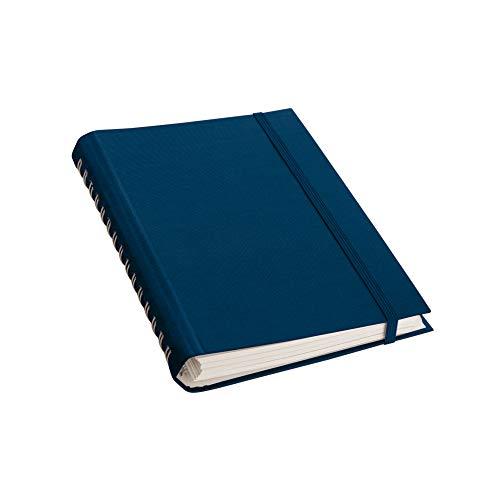 Semikolon (356177) Spiralnotizbuch Interno (A5), feinkariert, Efalineinband, 200 Seiten, marine