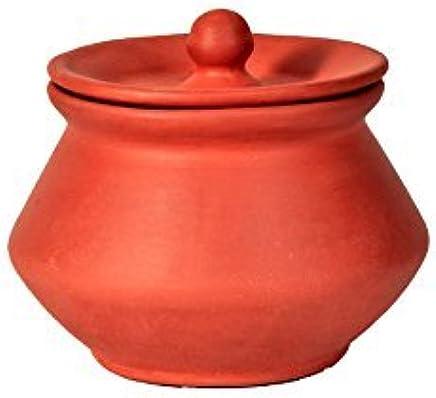 HEALTHYINDIA - Handmade Clay Handi PHEAL with Lid, Clay Curd Pot -(Pc of 1)_ 500 ML