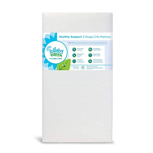 Lullaby Earth Non-Toxic Waterproof Crib Mattress | 2 Stage Firmness, Tailored to Your Baby's Needs as They Grow | Fits Standard Baby & Toddler Beds
