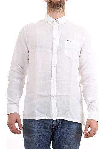 Lacoste CH4990 Camicia, Blanc, XL Uomo