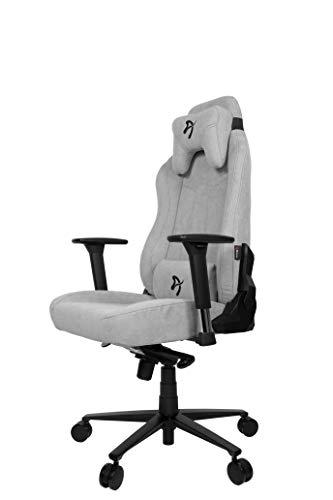 Arozzi VERNAZZA Soft Fabric Chair, Metal, Light Grey, Large