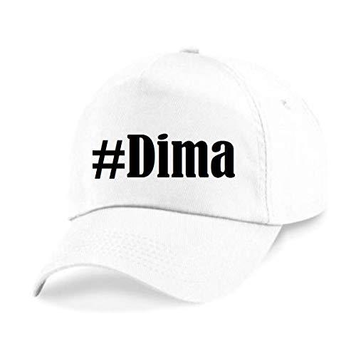 Reifen-Markt Base Cap Hashtag #Dima Größe Uni Farbe Weiss Druck Schwarz