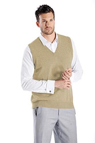 Cashmere Boutique: Suéter de cachemira 100% puro para hombre (6 colores, tamaños: S/M/L/XL), Suéter de cachemira 100% puro de ajuste clásico., XL, Negro