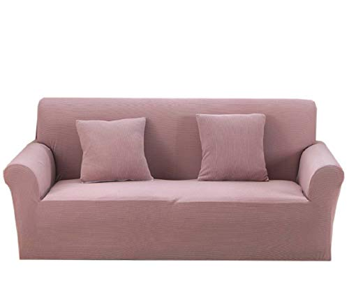 Argstar Thickened Premium Knit Loveseat Couch Covers, Two Seater Couch Cover, Slipcover for Loveseat 1 Piece, Funiture Protector for Loveseat, Loveseat Covers for Living Room, Pink Lanvender
