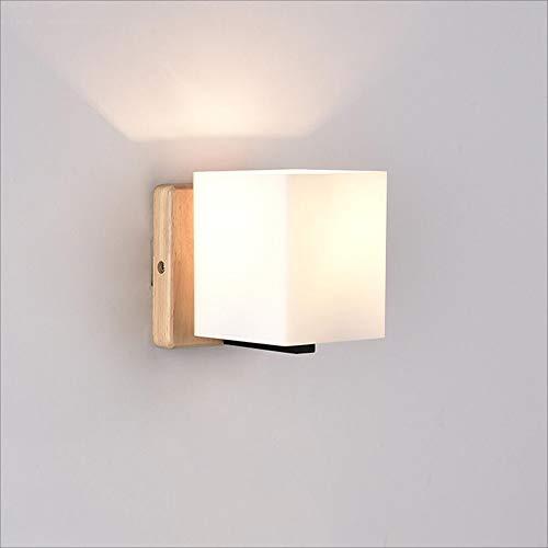 XRFHZT Japonais-Style en Bois créatif Lampe Murale Chambre Lampe de Chevet Couloir éclairage intérieur,B,1