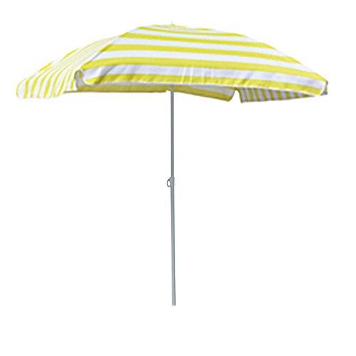 FineHome Sonnenschirm Strandschirm Strand Sonnenschutz mit Tasche knickbar rechteckig gelb-Weiß gestreift 120x180cm