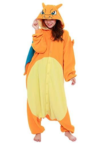 SAZAC Kigurumi – Pokemon – Charizard – Onesie Jumpsuit Halloween Costume (X-Large)