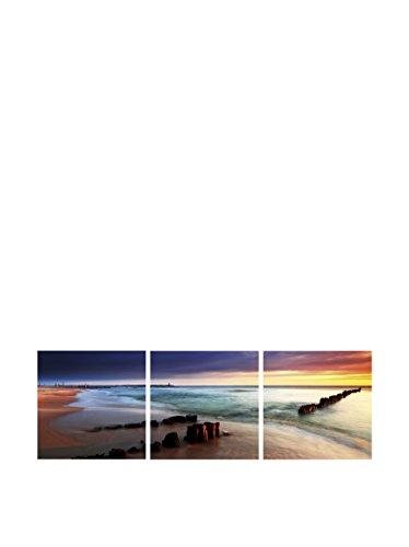 SuperStudio LO+DEMODA Lienzo tríptico, diseño Skyline dal fiume, Poliéster y...
