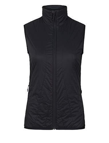 Icebreaker Merino Women's MerinoLOFT Hyperia Lite Hybrid Vest , Black, Medium
