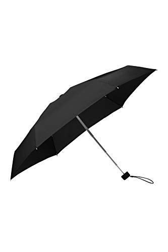 Samsonite Minipli Colori S Paraguas Plegable Manual 5 Secciones, Diámetro de 17 cm, Negro (Black)