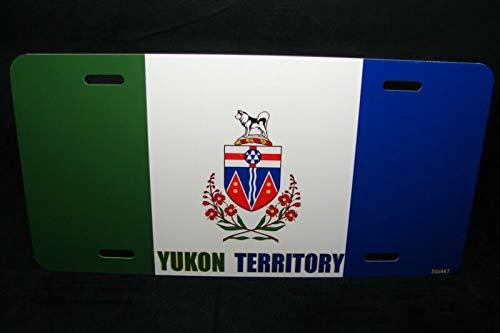 Yukon Territory Flag Car License Plate Bande Du Territoire Du Yukon Auto Car Novelty Accessories License Plate Art