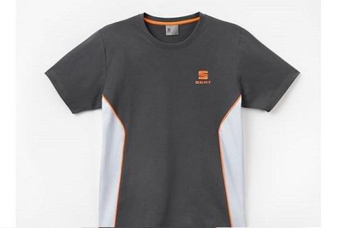 Seat Sport Herren T-Shirt, Gr. XL, atomgrau/grau/orange - 6H1084200DGCF