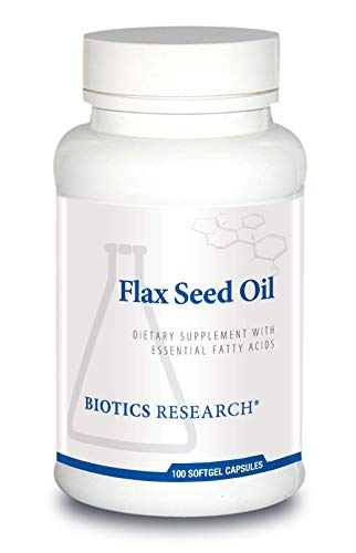 Biotics Research Flax Seed Oil Each Capsule Contains 1,000 of Pure Flax Seed Oil. Cold Pressed from Certified organically Grown Flax Seed. Healthy Inflammation Pathways. Heart Health. 100 Capsule