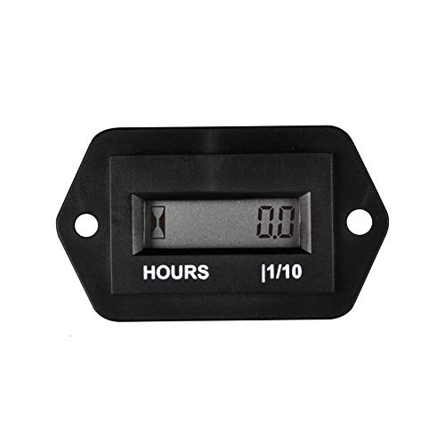 Runleader RL-HM008 DC 4.5-90V hour meter with digital LCD display for Boat Tractor Generator Engine Mower Fork Light CAT Paramotors Microlights Marine Engines Cleaners and Chainsaws