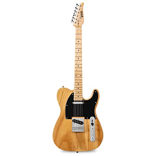 """LyxPro 39"""" Electric Telecaster Guitar   Solid Full-Size Paulownia Wood Body, 3-Ply..."""