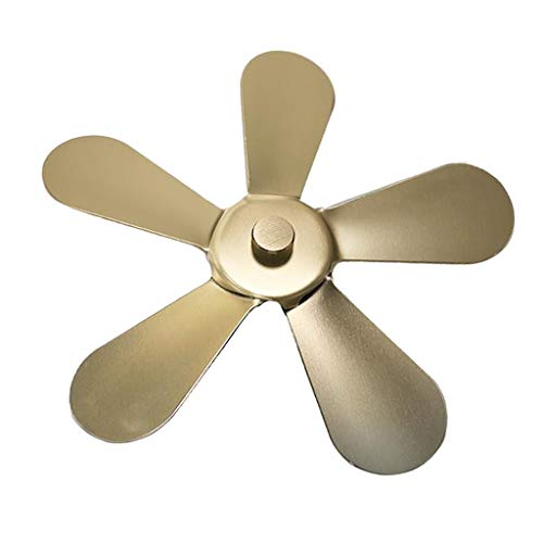 FLAMEER Hoja de Ventilador de Estufa, 5 Cuchillas Pieza de Repuesto para Ventilador de Estufa Ventilador de Calor para quemadores de Madera/Troncos o Chimenea - de Cobre