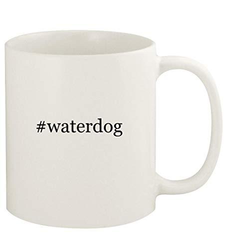 #waterdog - 11oz Hashtag Ceramic White Coffee Mug Cup, White