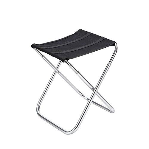 fácil de cargar Silla plegable portátil liviana Silla plegable de aleación de aluminio Camping Silla de camping portátil Silla de pescado para el campamento de viaje Picnic Papacable Ligeriz Silla de