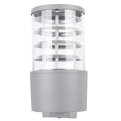 Moderne LED-licht aluminium buiten binnenplaats tuin wandlamp IP65 waterdicht modieus uiterlijk wandlamp 85-240V(Zilver)