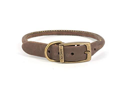 Ancol Rundes Timberwolf Leder-Halsband
