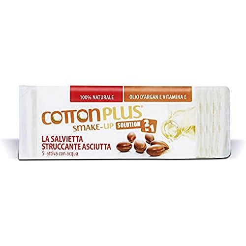Cotton Plus SMAKE-UP ARGAN MINI 60 pz. | STRUCCANTE NATURALE! Salviette struccanti asciutte brevettate, senza conservanti, 100% naturali!