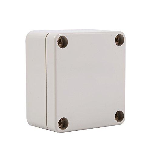 Caja De Conexiones Impermeable, TermopláStico ABS ProteccióN UV Antienvejecimiento Anticorrosivo AntiestáTico ConexióN Exterior Recinto Impermeable, Buen Aislamiento(65 * 60 * 35mm)