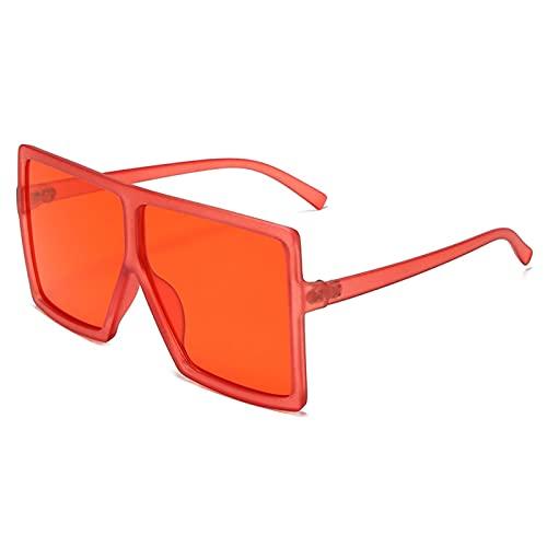 AMFG Gafas de sol polarizadas, Marco Grande, Gafas cuadradas, Gafas de sol, Blackout, Pesca de viajes al aire libre (Color : G)