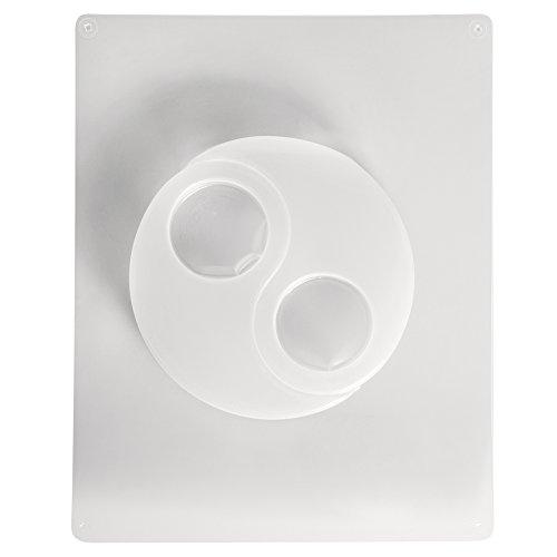RAYHER 3672900 Gießform Teelichthalter Yin Yang, 2 Motive, 12 x 8 cm