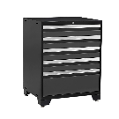 NewAge Products Pro 3 Series 37 in. H x 28 in. W x 22 in. D 18-Gauge Welded Steel 5-Drawer Tool Cabinet in Gray-52004 - The Home Depot