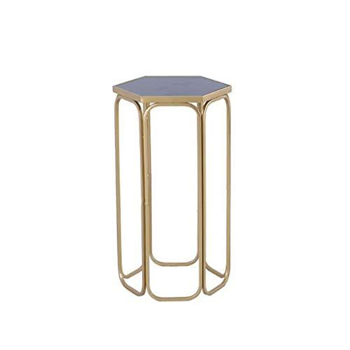 Kays Beistelltisch Couchtisch Sofatisch Wohnzimmertisch Rund Moderne Elegante Beistelltisch/Couchtisch, Sofa Accent Tisch for Wohnzimmer Schlafzimmer, Schmiedeeisen - Black Glass (Size : 37 * 65cm)