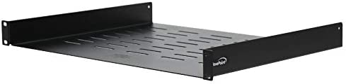 NavePoint Universal Rack Tray Vented Shelves 1U Black 14 Inches 350mm deep No Lip product image