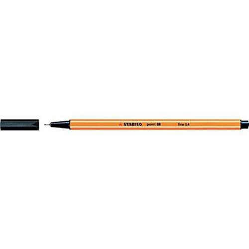 Feinschreiber STABILO point 88®, Strichstärke 0,4mm, schwarz, 20 Stück