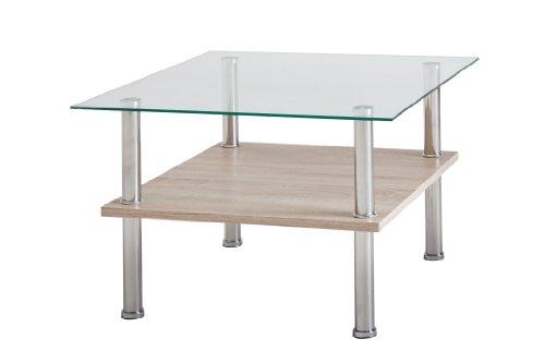 Presto Mobilia  25 11763 Isa Tavolino Da Salotto In Legno Di Rovere, 65 x 65 x 43 cm, Colore Sabbia