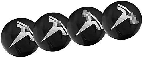 4 Piezas Tapas centrales Plastico Aleación Logo Insignia Coche, para Tesla Model X 3 S Y Tapacubos Pegatinas