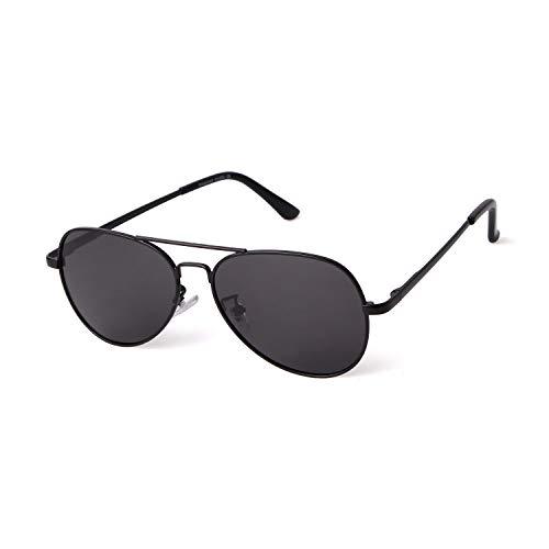 ADE WU Kinder Pilotenbrille, Klassische Polarisiertes Brille mit Edelstahl Metall Gestell Unisex Sonnenbrille UV-Schutz für Mädchen Jungen (Eltern + Kind)