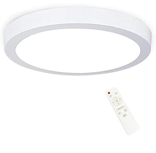 Plafoniera LED 24W tonda bianco naturale con telecomando, diametro 30cm, dimmerabile, luminosità e temperatura colore regolabili, per plafoniere, soggiorni, faretti a soffitto, bagni e balconi